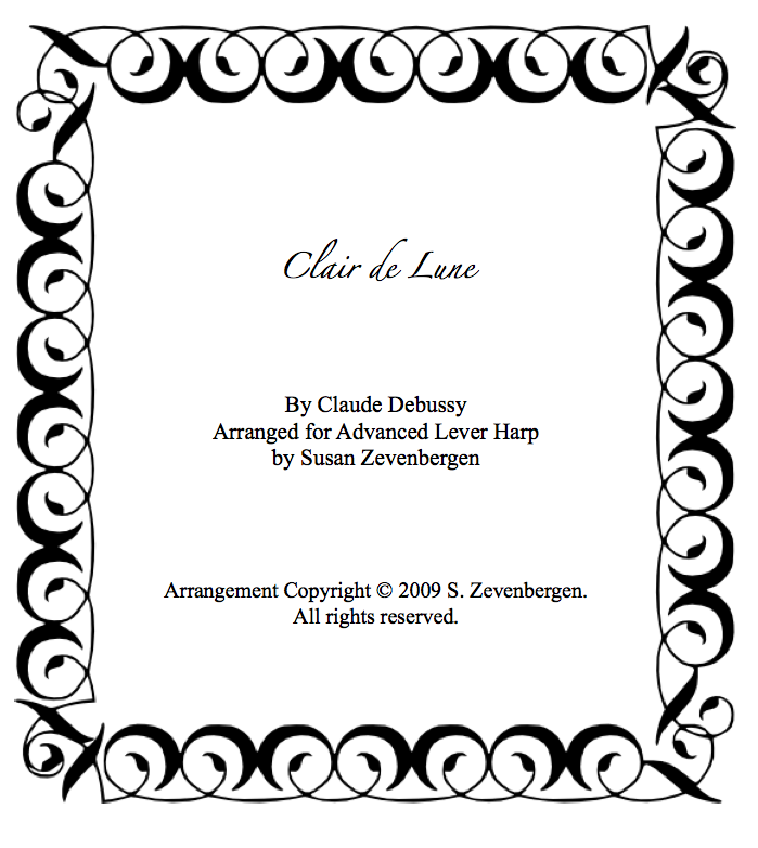 Piano free piano sheet music clair de lune : Sheet Music – Harp to Harp